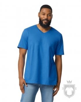 Camisetas Gildan Cuello V color Royal :: Ref: 051