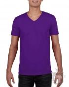 Camisetas Gildan Cuello V color purple :: Ref: 081