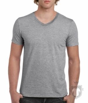 Camisetas Gildan Cuello V color Sport grey :: Ref: 095