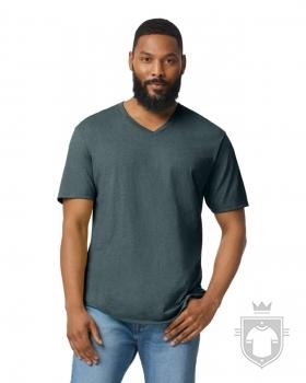 Camisetas Gildan Cuello V color dark heather :: Ref: 108