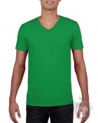 Camisetas Gildan Cuello V color Irish green :: Ref: 167