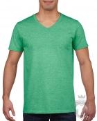 Camisetas Gildan Cuello V color Heather Irish Green :: Ref: 215