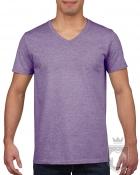 Camisetas Gildan Cuello V color Heather purple :: Ref: 232