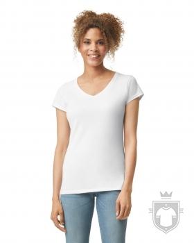 Camisetas Gildan Cuello V W color White :: Ref: 030