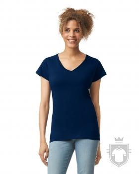 Camisetas Gildan Cuello V W color Navy :: Ref: 032