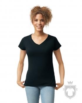 Camisetas Gildan Cuello V W color Black :: Ref: 036