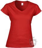 Camisetas Gildan Cuello V W color red :: Ref: 040