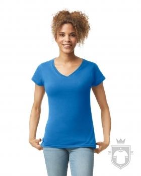 Camisetas Gildan Cuello V W color Royal :: Ref: 051