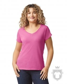 Camisetas Gildan Cuello V W color Azalea :: Ref: 071