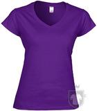 Camisetas Gildan Cuello V W color purple :: Ref: 081