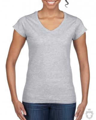 Camisetas Gildan Cuello V W color Sport grey :: Ref: 095