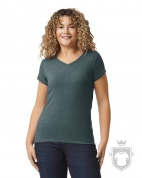 Camisetas Gildan Cuello V W color dark heather :: Ref: 108