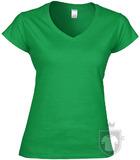 Camisetas Gildan Cuello V W color Irish green :: Ref: 167