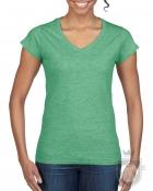 Camisetas Gildan Cuello V W color Heather Irish Green :: Ref: 215