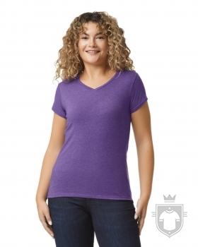 Camisetas Gildan Cuello V W color Heather purple :: Ref: 232