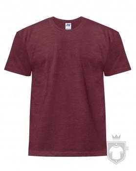 Camisetas JHK Regular Heather color Burgundy Heather :: Ref: BUH
