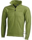 Chaquetas JN Half zip fleece color Lime green :: Ref: lime-green