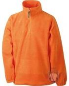 Chaquetas JN Half zip fleece color Orange :: Ref: orange