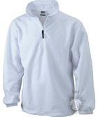 Chaquetas JN Half zip fleece color White :: Ref: white