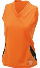 Camisetas JN Tirantes w color Orange - Black :: Ref: orange-black