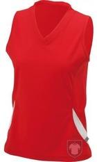 Camisetas JN Tirantes w color Red - White :: Ref: red-white