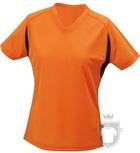 Camisetas JN Manga corta w color Orange - Black :: Ref: orange-black