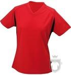 Camisetas JN Manga corta w color Red - Black :: Ref: red-black