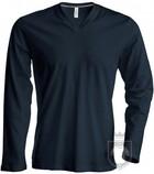 Camisetas Kariban Cuello pico ML color Dark grey :: Ref: darkgrey