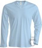 Camisetas Kariban Cuello pico ML color  :: Ref: skyblue