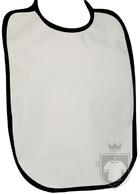 Baberos RTN Tena babero algodon color White - Black :: Ref: 001