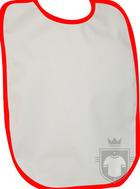 Baberos RTN Tena babero algodon color White - Red :: Ref: 032