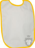 Baberos RTN Tena babero algodon color White - Orange :: Ref: 1655