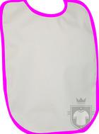 Baberos RTN Tena babero algodon color White - Fuchsia :: Ref: 212
