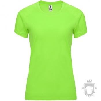 Camisetas Roly Bahrain W color Fluor green :: Ref: 222