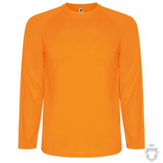 Camisetas Roly Montecarlo ML color Orange Fluor :: Ref: 223