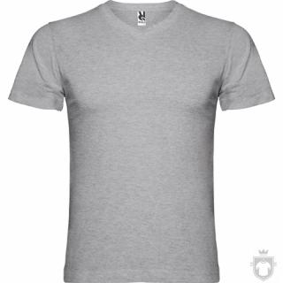 Camisetas Roly Samoyedo 155 cuello V color Grey  :: Ref: 58