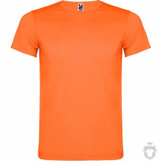 Camisetas Roly Akita color Orange Fluor :: Ref: 223