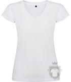 Camisetas Roly Victoria cuello V color White :: Ref: 01