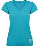 Camisetas Roly Victoria cuello V color Turquoise :: Ref: 12