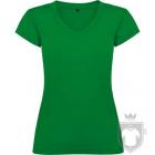 Camisetas Roly Victoria cuello V color Tropical Green :: Ref: 216
