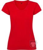 Camisetas Roly Victoria cuello V color Red :: Ref: 60