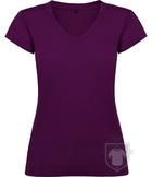 Camisetas Roly Victoria cuello V color Purple :: Ref: 71