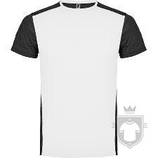 Camisetas Roly Zolder K color Blanco / Negro vigore :: Ref: 01243