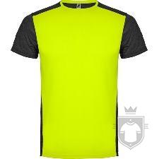 Camisetas Roly Zolder K color Amarillo Fluor/Negro Vigore :: Ref: 221243