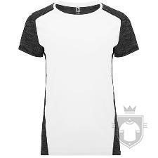 Camisetas Roly Zolder W color Blanco / Negro vigore :: Ref: 01243