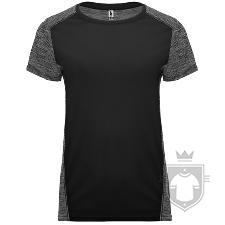 Camisetas Roly Zolder W color HEATHER BLACK/BLACK :: Ref: 02243