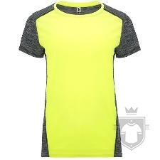 Camisetas Roly Zolder W color Amarillo Fluor/Negro Vigore :: Ref: 221243