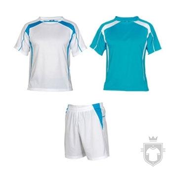 Equipaciones Roly Conjunto deportivo color White  - sky blue :: Ref: 0112