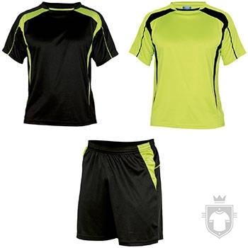 Equipaciones Roly Conjunto deportivo color Black / Fluor yellow :: Ref: 02221