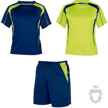 Equipaciones Roly Conjunto deportivo color Royal blue / Fluor yellow :: Ref: 05221